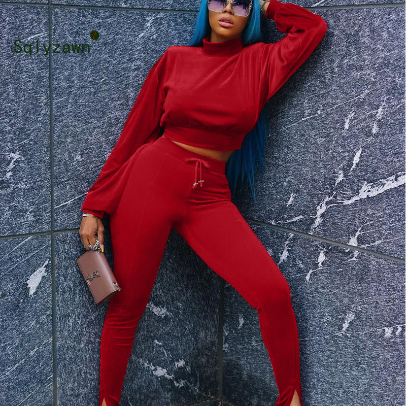 Womens 2 Piece Velvet Velour Hooded Suit Ladies Knitwear Side Stripe Tracksuit