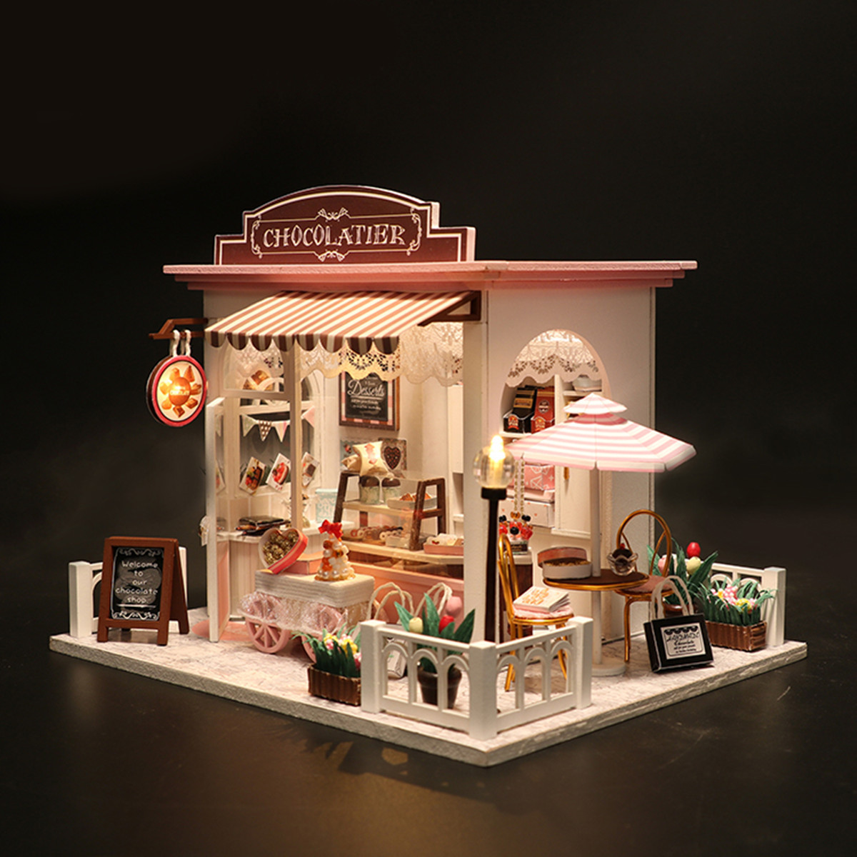 6 Pcs colorful miniature books 1:12 wooden doll house miniature books E Ze