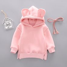 New Spring Autumn Baby Boy Girl Clothes Cotton Hooded Sweatshirt Children's Kids Casual Sportswear Infant Leisure sport Clothing(China)