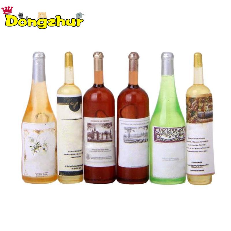 6PCS 1:12 Miniature Cocktail Wine for Dolls House DIY Craft Acce Decor Model New