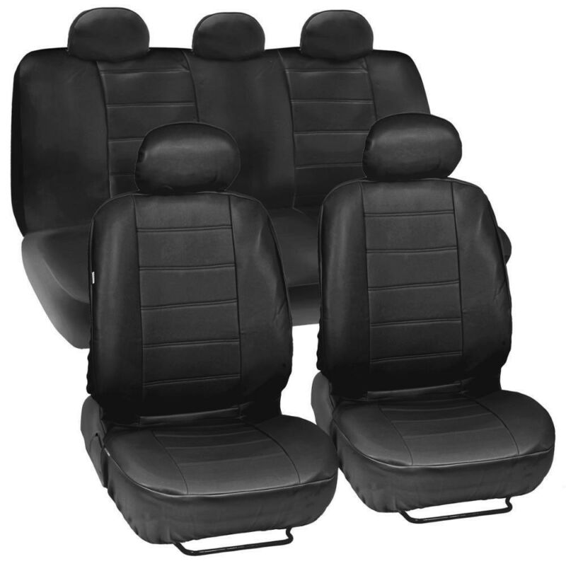 Car-Seat-Covers Auto-Interior-Accessories Faux-Leather Universal 5-Seat title=