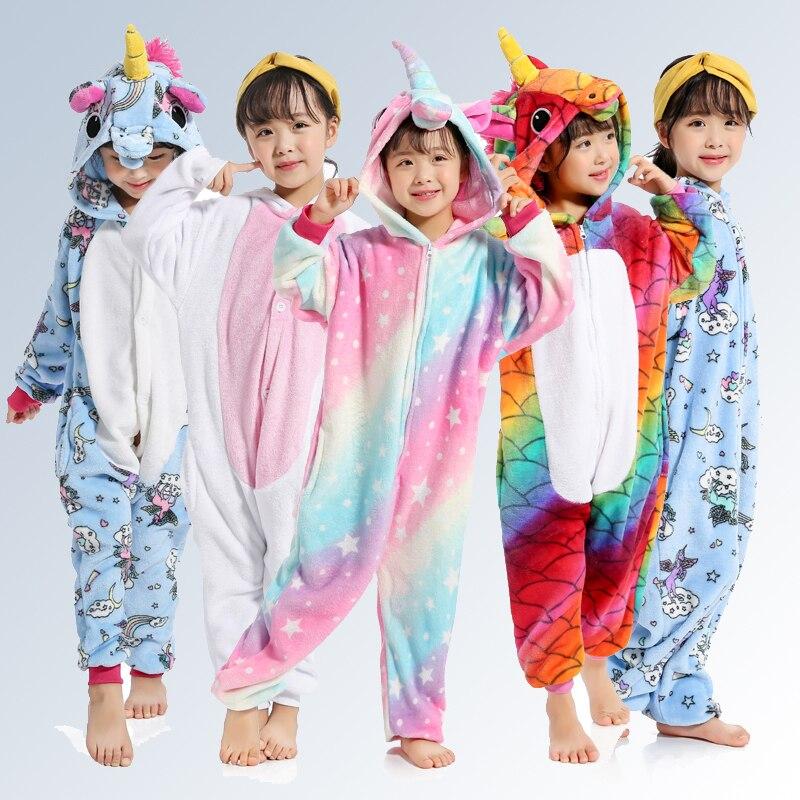 Adult//Child Soft Flannel Unicorn Pajamas Cosplay Animal Sleepwear Night Clothes