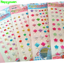 Happyxuan 4 Sheets Crystal Diamond Pearl Stickers for Scrapbooking  Rhinestone Self Adhesive Strips DIY Creative Craft Material 2c729b931f3a