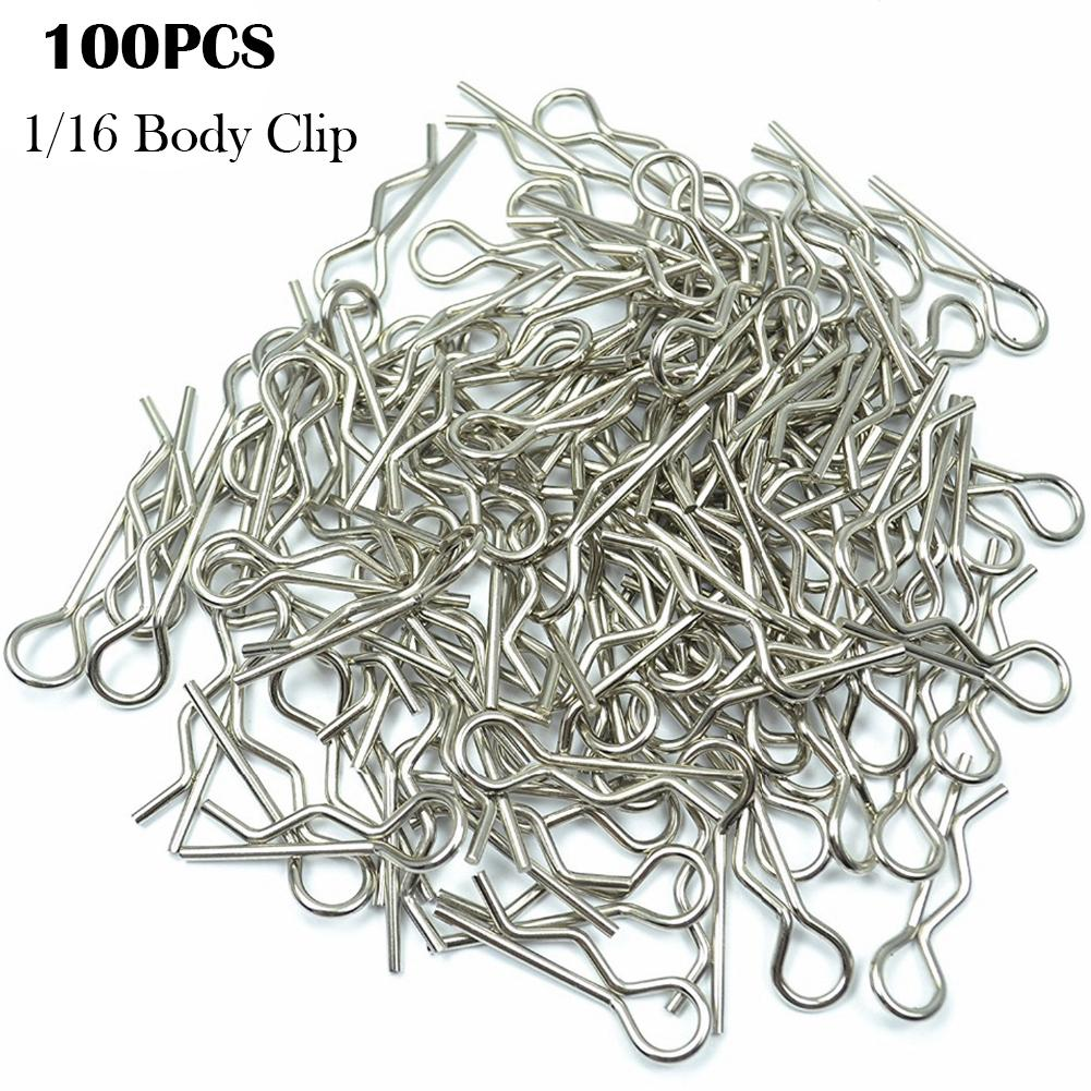 100pcs/pack Stainless Body Shell Clip Pin For HSP RC 1/16 Car Buggy Truck HSP Traxxas Vehicles Car Shell Latch(China)