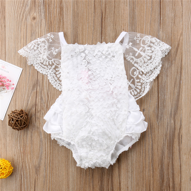 Bodysuit Toddler Leotard-Tops Baby Clothing Frilly Ruffles Girl Princess Lace Fancy title=