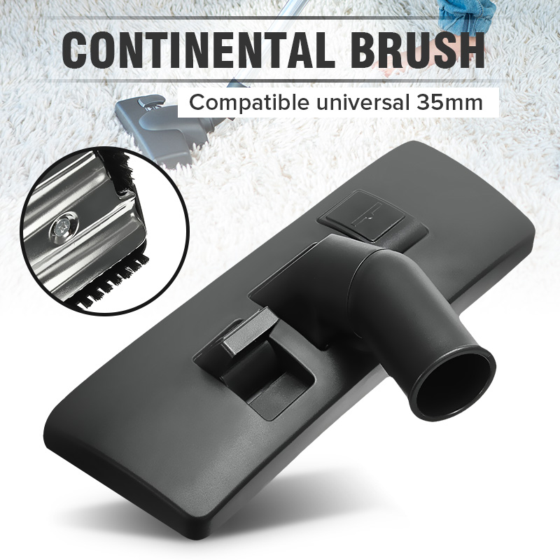 1Pcs  35mm Carpet Floor Tool Brush Attachment Swivel Head Durable Quality Metal Plastic Black Universal Vacuum Cleaner Brush(China)