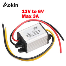 Car Power Converter Buck Voltage Regulator 12v To 6v Converter 3a 18w Waterproof High Efficiency Step Down Volt Module Power(China)
