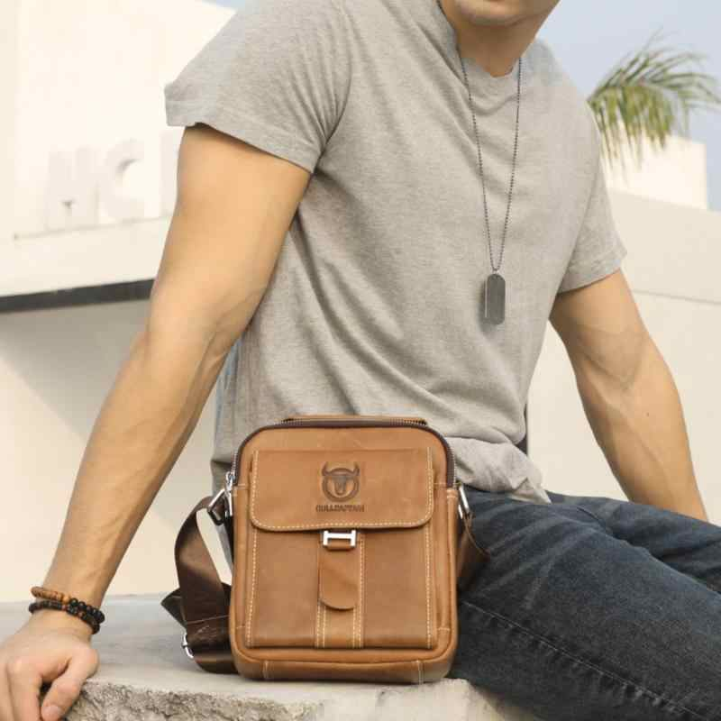 Men Satchel Shoulder Bag Leather Handbag Sling Crossbody Messenger Bags 76164885b7e58