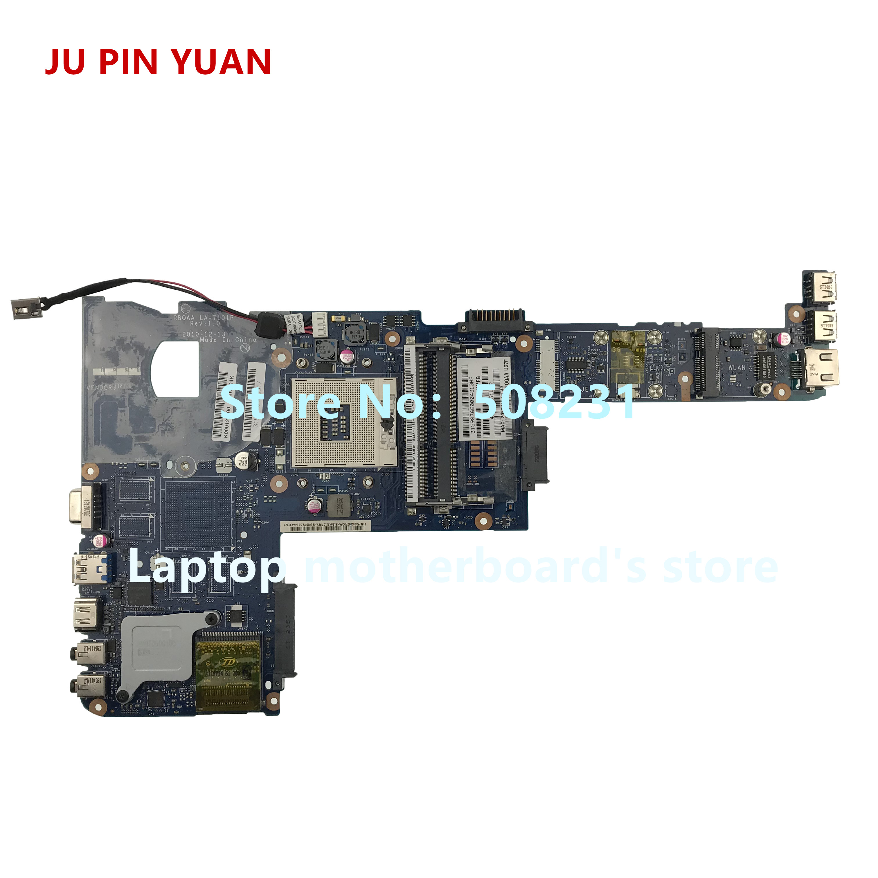 JU PIN YUAN K000123400 LA-7101P mainboard for toshiba satellite P700 P740 P745  laptop motherboard fully Tested