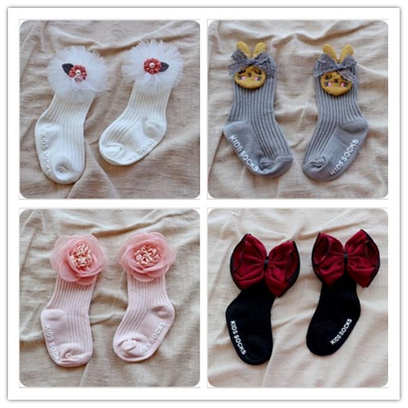 Girls Trendy Elastic Lace Flowers Summer Cool Socks Mesh Style Baby Socks new.