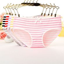 Buy 2019 Panties Stripes High Quality Bowknot Tanga Lovely Cute Sexy Underwear Women Panties Cotton Briefs Plus Size Lingerie Pink