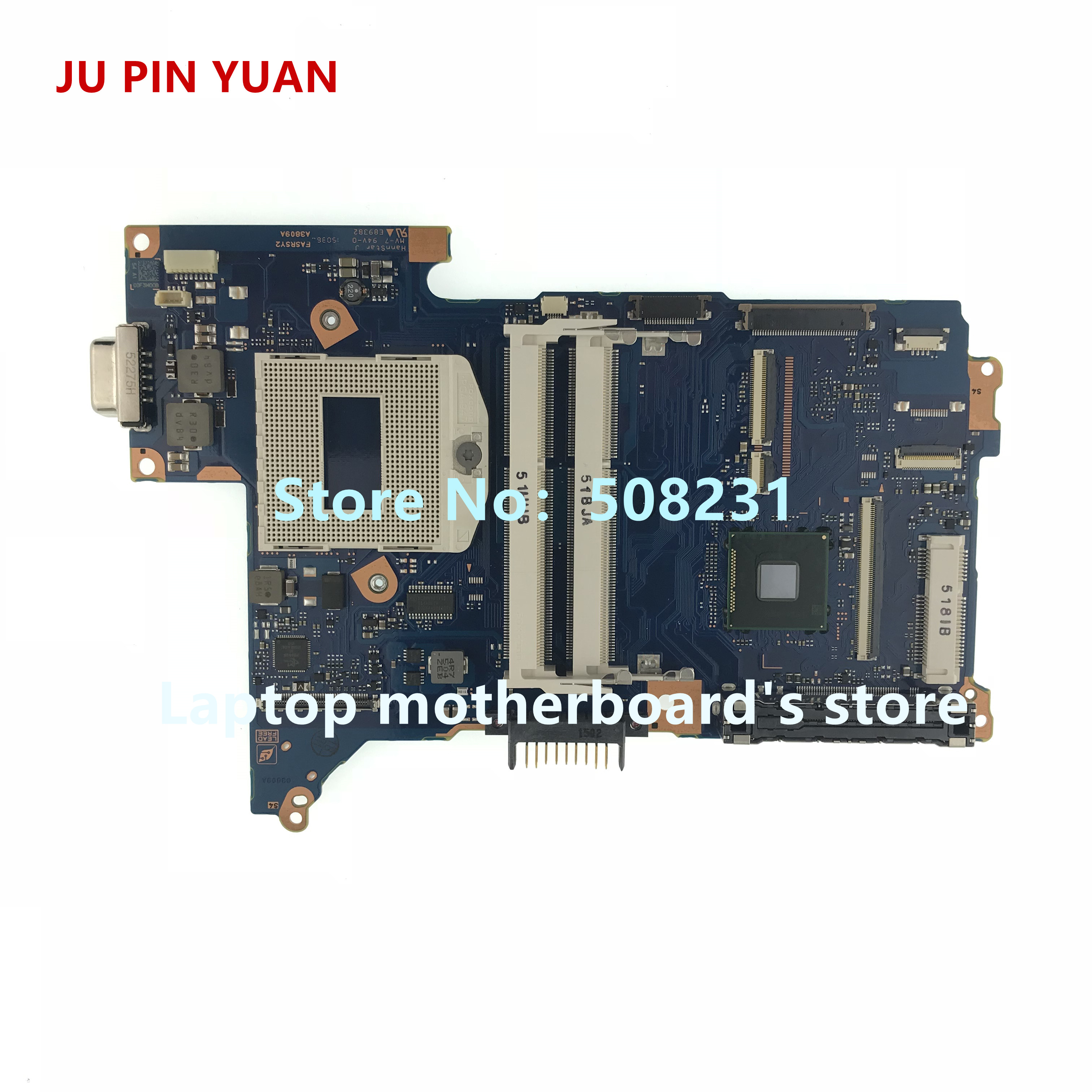 JU PIN YUAN FASRSY2 mainboard For Toshiba Portege R30 R30-A laptop motherboard A3809A socket PGA 947