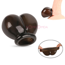 Buy Male Reusable Penis Sleeve Scrotum Ring Bondage Chastity Cage Cock Ring Restraint Sex Toys Men Delay Ejaculation Penis Rings