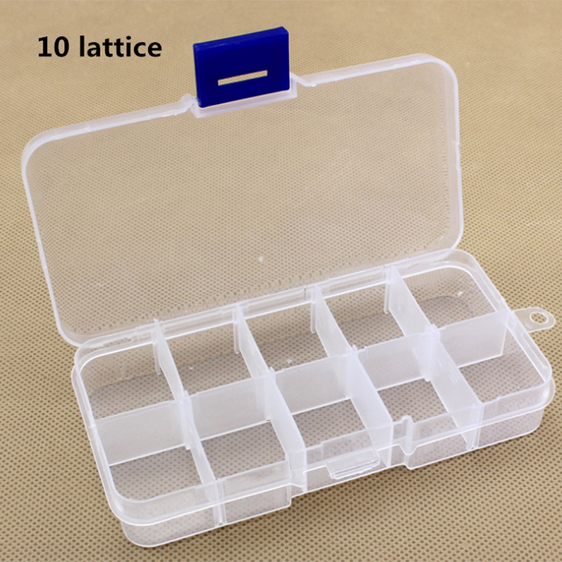 8//10//15 Grid Fishing Storage Box Fish Hook Organizer Plastic Jewelry Container