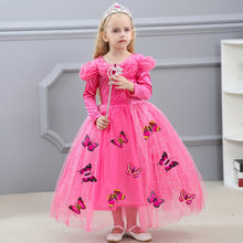 Kids Girls Long Sleeve Princess Butterfly Cosplay Costume Party Dress Girl  Elegant Gown Baby Make Up Fancy Gown 3 Colors In Girls Costumes From  Novelty ...