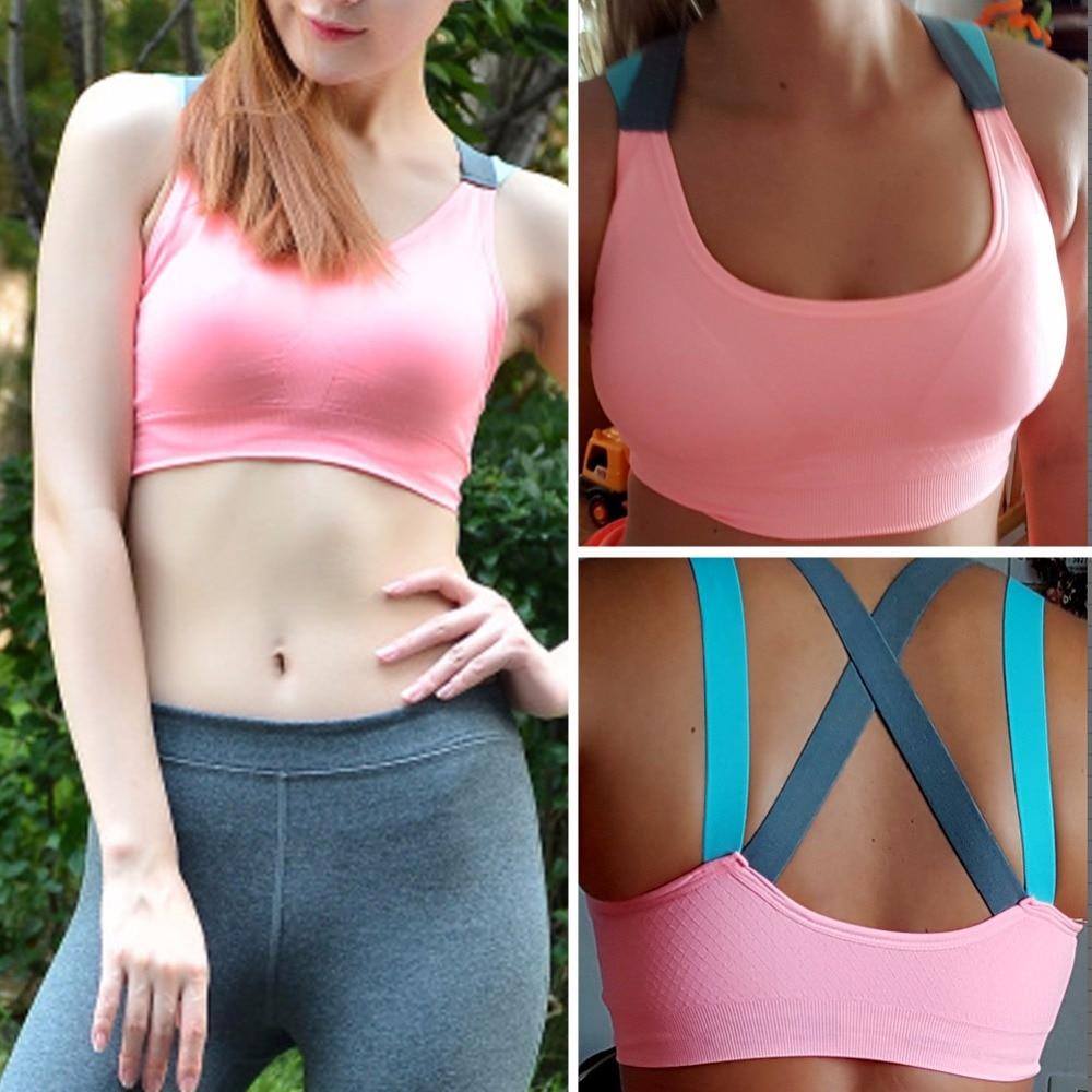 5 Pack Womens Padded Seamless Sport Bra Top Vest Gym Fitness Ladies Yoga Running