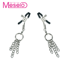 Buy Meselo Nipple Clips Sex Game Bdsm Bondage Fetish Sex Toys Couples Woman Men Metal Nipples Clamps Slave Adult Toys Sextoy New