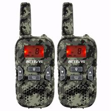 New Arrival 2pcs RT33 Mini Walkie Talkie Kids Child Hf Radio 0.5W PMR FRS/GMRS 8/22CH VOX PTT Flashlight LCD Displ
