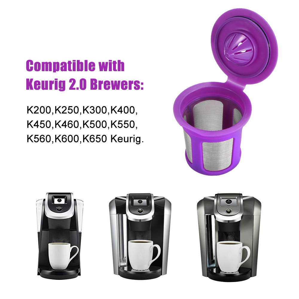 Capsules-Pod Keurig Pod-Cup Machines-Maker Refillable for Cafilas Kitchen title=
