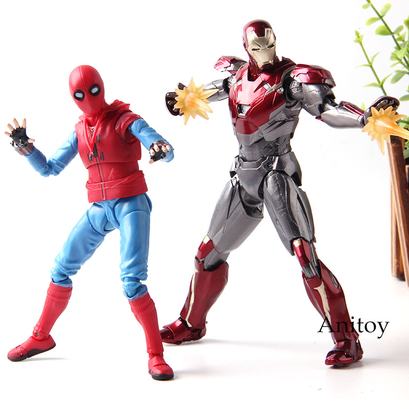 S.H.Figuarts Marvel Spider-Man Homecoming Iron Man MK47 Action Figure Toys