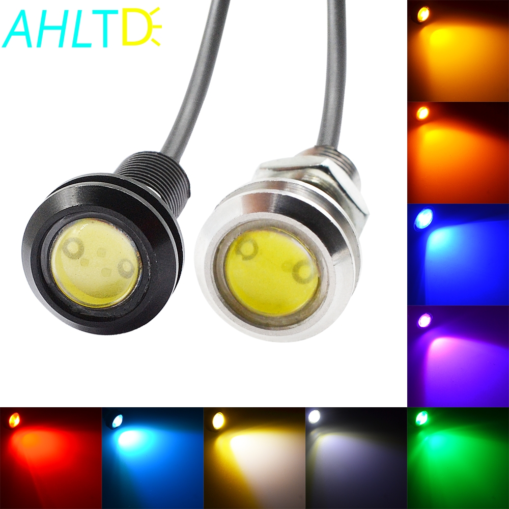 Waterproof 18mm/23mm Black/White Shell 9w DC 12V Led Eagle Eye Light Daytime Running Drl Backup Car Motor Parking Signal Lamps