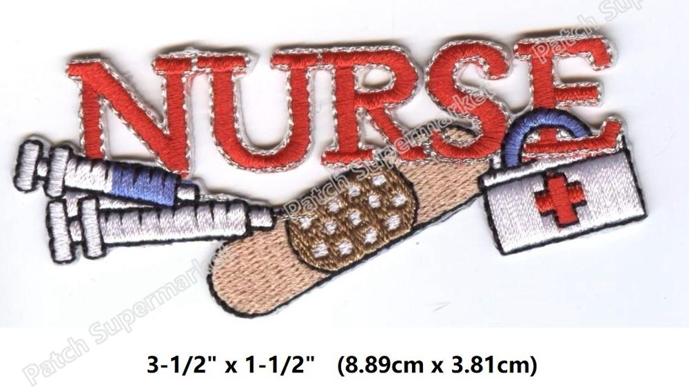 Nurse Tools Applique Patch Iron on