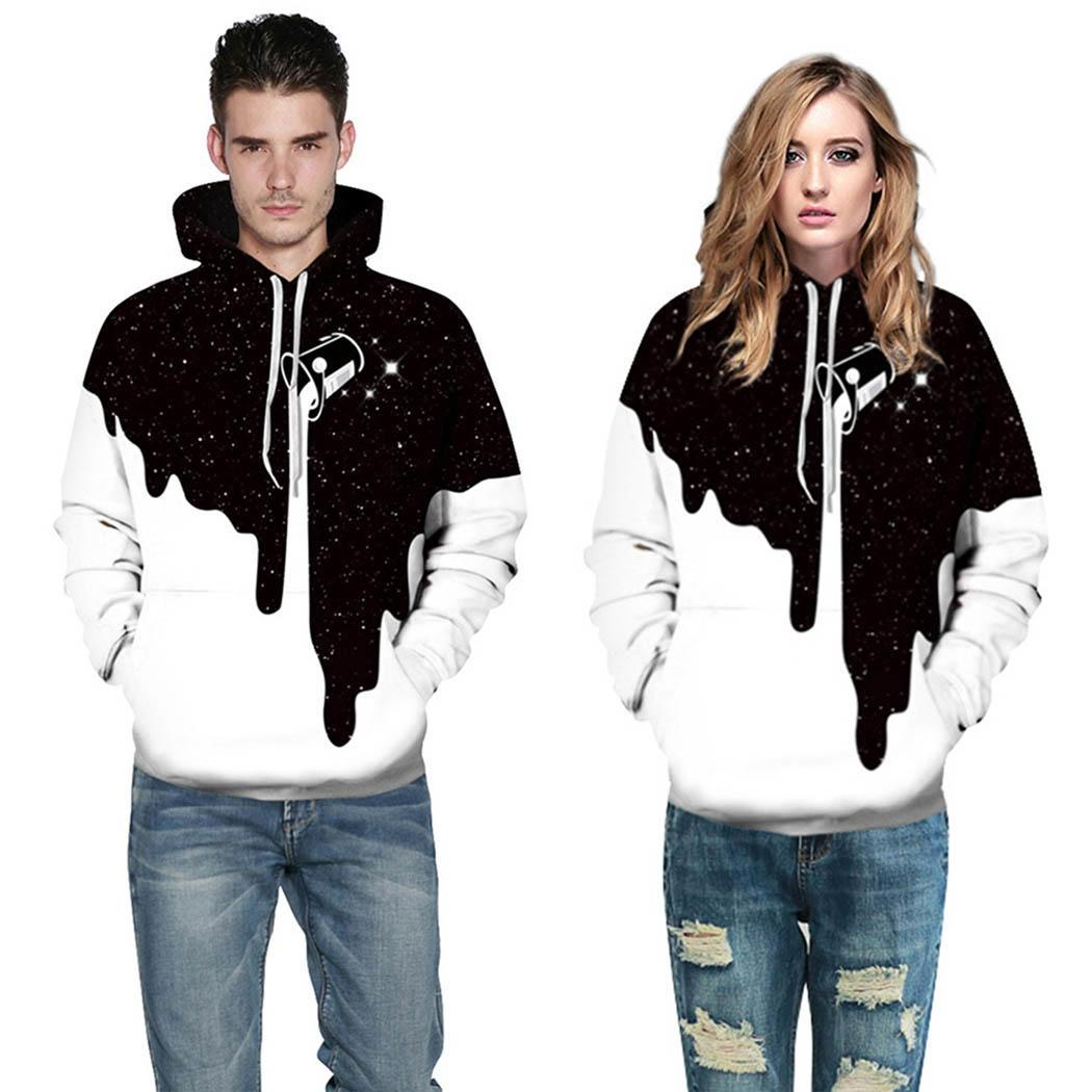 New Mens Hoodie Sweatshirt Top,Males Fashion Plus Size Drawstring Casual Patchwork Long Sleeve Pullover Coat