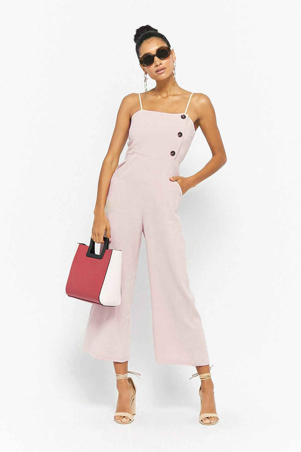 5c4c0eae221d Elegant Sexy Spaghetti Strap Rompers Womens Jumpsuit Sleeveless Backless  High Waist Casual Wide legs Jumpsuits Leotard