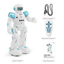 LEORY Intelligent RC Humanoid Gesture Robot For Children Birthday Christmas Gift Programming Remote Control Robotica Toy Sing(China)