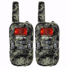 2pcs RT33 Kids Mini Walkie Talkie Child Hf Radio 0.5W PMR FRS/GMRS 8/22CH VOX PTT Flashlight LCD Display PMR446