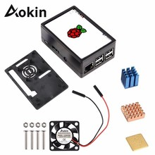 Fan Abs-Case Touch-Screen Raspberry Pi Heat-Sink for 3/3.5inch-display/Touch-screen/Abs-case