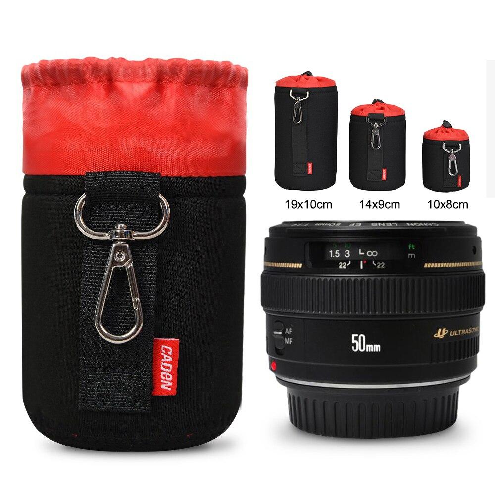Camera Lens Case Lens Pouch Bag for DSLR SLR Cameras (Black-7)