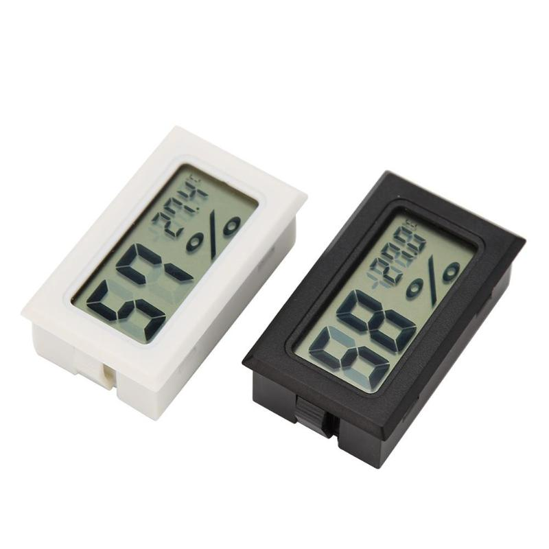 2PCS Mini Digital LCD Thermometer Hygrometer Humidity Temperature Meter Indoor