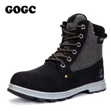 GOGC Warm Ankle Boots Women Plus Size New Fashion Woman 눈 Boots 암 스퀘어 (times square) 힐 Martin Boots Suede 겨울 Shoes 여성 9787(China)
