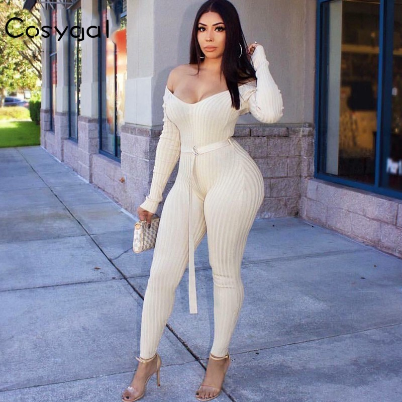 Bodysuits Cosygal Solid Women Fashion Women Bodysuits Sexy Off Shoulder Sexy Romper Jumpsuit Two Piece Beach Party Bodycon Overalls Skillful Manufacture