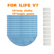 Cleaning Mop Cloths + Adhesive Tape Chuwi ILIFE V7 Robot Vacuum Cleaner Part