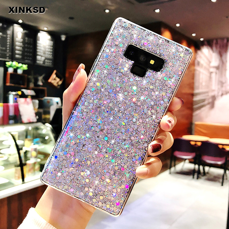 Glittle Bling Soft TPU Case for Samsung Galaxy  A3 A5 A7 J3 J5 J7 Prime 2017 A7 A6 A8 A9 J6 2018 S8 S9 S10 Plus S7 Note 9 8 Case(China)