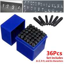36pcs 6mm Carbon Steel Stamp Punch Alphabet Letter Number Set Craft Marking Tool Heat Treated For The Or Branding