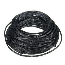 Sleeving Black Expandable Cable-Protection Braid Sheathing Insulated 4mm 10-Meter Audio-Wire-Net
