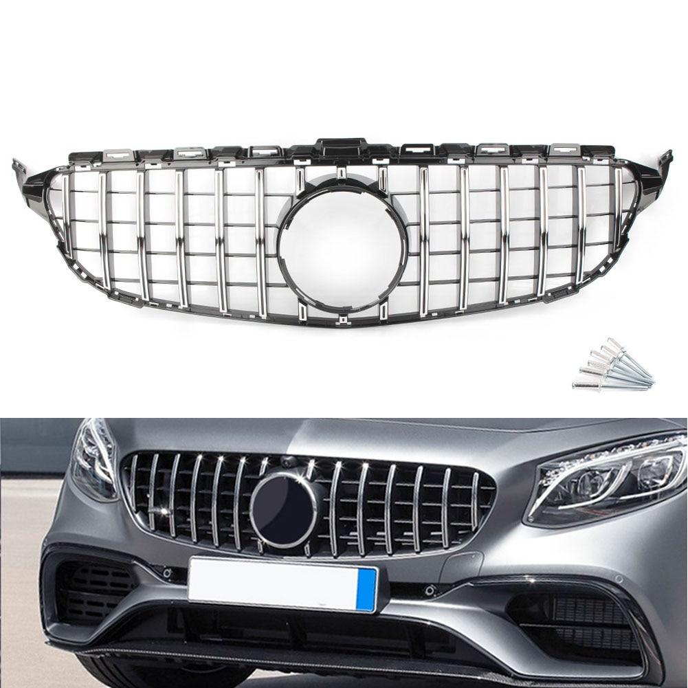 Front Kühlergrill Diamant Schwarz für Mercedes Benz C-Klasse W205 14-18 aus ABS