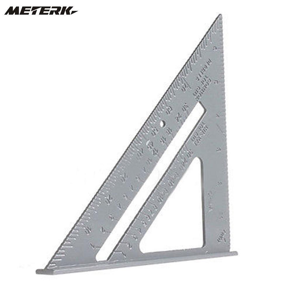Sistema m/étrico 7 Pulgadas Escuadra de Aleaci/ón de Aluminio Escuadra de Tr/íangulo para Carpinter/ía