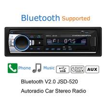 NEW Car Stereo FM Radio MP3 Audio Player 12V Bluetooth USB SD AUX Auto Electronics Subwoofer In-Dash 1 DIN USB Flash Disk(China)