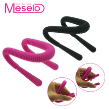 Buy Meselo Silicone Bend Anal Plug Vaginal Dilator Women Men Sex Toys Urethral Tube bdsm Toy Sex Product Vagina Expander Adult Game