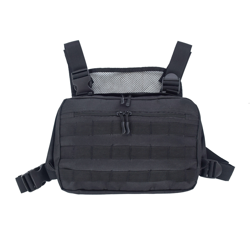 Men Tactical Shoulder Bags Chest Rig Bag Hip Hop Streetwear Men Adjustable Pockets Waistcoat Kanye West Functional Waist Packs!(China)