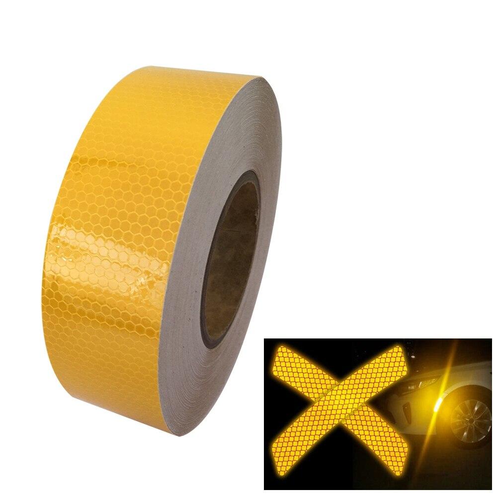 rojo y amarillo Cinta adhesiva reflectante de alta visibilidad 50/mm x 5/m