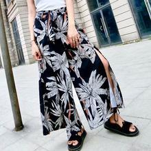 Bohoartist pantalones para mujeres Lece a imprimir suelto playa bohemia de  talle alto de mujer de moda de vacaciones pantalones . c185e0f5247