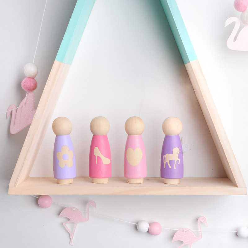 INS Nordic Style wooden doll doll toy creative children's room desk decoration decoration photo props home decoration crafts
