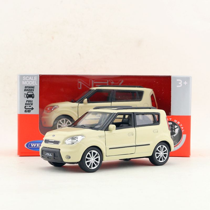 Welly 1:36 MINI Hatch Metal Diecast Model Car New in Box Red