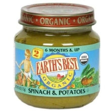 Earths Best Baby Foods BG12469 Earths Best Baby Foods Baby Spin-Potato - 12x4OZ()