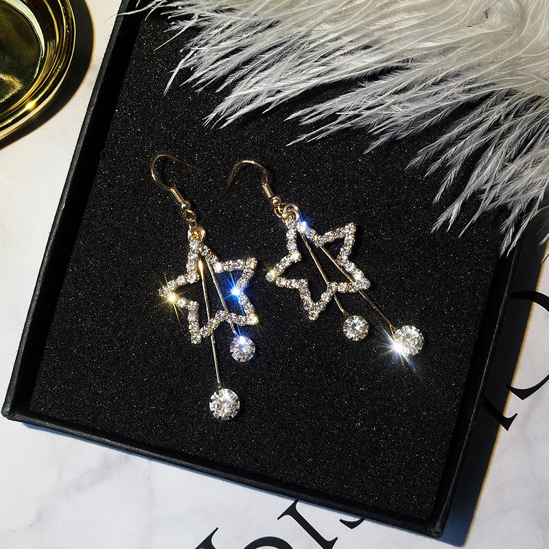 Star Moon Pendants d/'oreilles Long Tassel Boucles d/'oreilles Femme FASHION JEWELRY Accessories